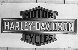 Cartel antiguo Harley Davidson