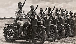 Modelo Harley Davidson WLA de la segunda guerra mundial