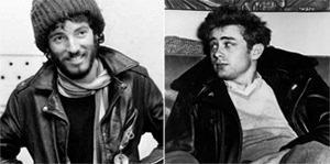 Bruce Springsteen y James Dean con estetica proveniente de la Biker Culture